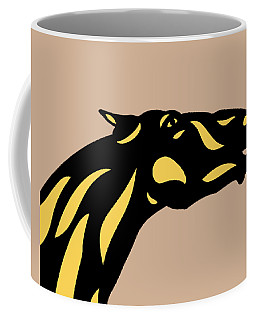 Fred - Pop Art Horse - Black, Primrose Yellow, Hazelnut Coffee Mug