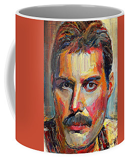 Freddie Mercury Colorful Portrait Coffee Mug