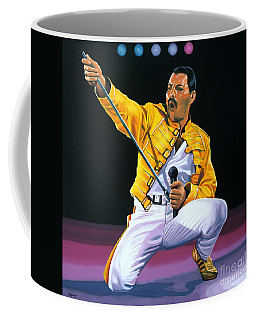 Freddie Mercury Live Coffee Mug by Paul Meijering