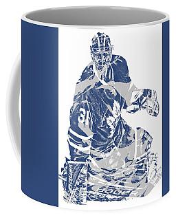 Frederik Andersen Toronto Maple Leafs Pixel Art 1 Coffee Mug