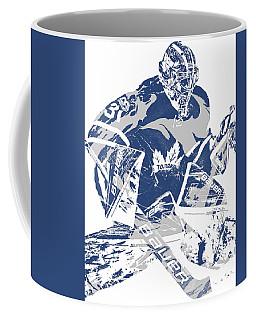 Frederik Andersen Toronto Maple Leafs Pixel Art 2 Coffee Mug