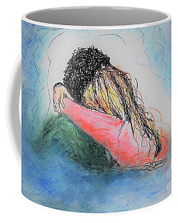 Coffee Mug featuring the mixed media Free Hugs by Denise Fulmer