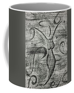 Coffee Mug featuring the mixed media Free Spirit by Rebecca Davidson