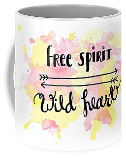 Free Spirit Wild Heart Watercolor Coffee Mug