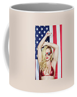 Coffee Mug featuring the photograph Freedom Beauty - No8788b by Amyn Nasser