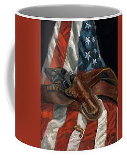 Coffee Mug featuring the painting Freedom by Billie Colson