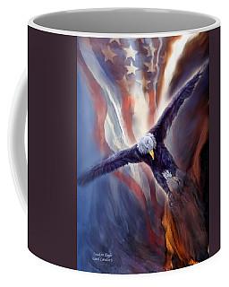 Coffee Mug featuring the mixed media Freedom Eagle by Carol Cavalaris