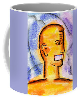 Coffee Mug featuring the painting Freedom Of Press  by Leon Zernitsky