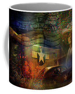 Freedom Plane Four Coffee Mug by Evie Carrier