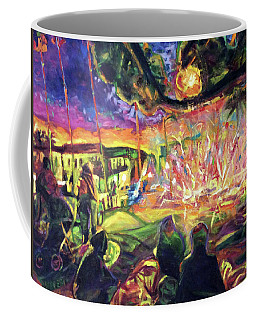 Coffee Mug featuring the painting Freedom's Fire by Bonnie Lambert