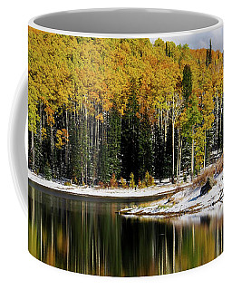Coffee Mug featuring the photograph Freeman Lake In Northwest Colorado In The Fall by Nadja Rider