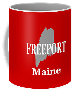 Coffee Mug featuring the photograph Freeport Maine State City And Town Pride  by Keith Webber Jr