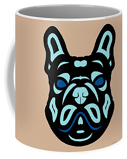 French Bulldog Francis - Dog Design - Hazelnut, Island Paradise, Lapis Blue Coffee Mug