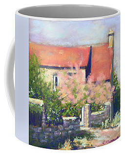 Coffee Mug featuring the pastel French Cottage by Rebecca Matthews