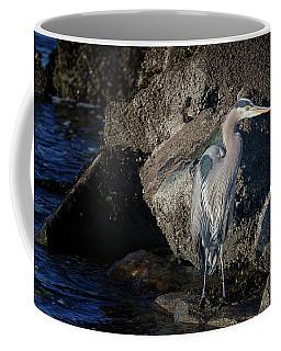 Coffee Mug featuring the photograph French Creek Heron by Randy Hall