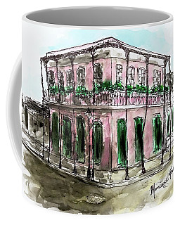 Coffee Mug featuring the painting French Quarter by Monique Faella