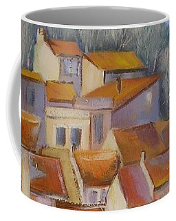 Coffee Mug featuring the painting French Villlage Painting by Chris Hobel