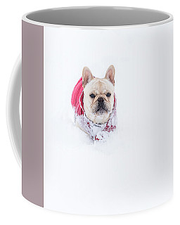 Frenchie In The Snow Coffee Mug