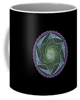 Coffee Mug featuring the painting Frequency Harmonizer by Keiko Katsuta