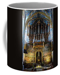 Fresco Of The Last Judgement And Organ In Albi Cathedral Coffee Mug by RicardMN Photography