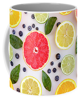 Fresh Citrus Fruits Coffee Mug by Teri Virbickis