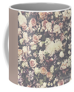 Fresh Flower Pattern Background Coffee Mug