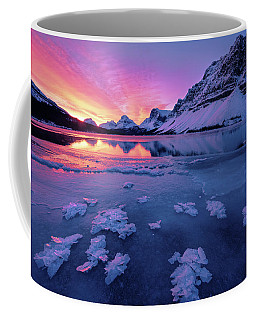 Fresh Ice On Bow Lake Coffee Mug