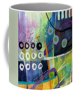 Coffee Mug featuring the painting Fresh Jazz In A Square 2 by Hailey E Herrera