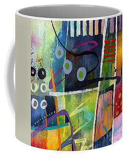 Coffee Mug featuring the painting Fresh Jazz In A Square by Hailey E Herrera