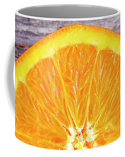 Fresh Organic Navel Orange Fruit Coffee Mug by Teri Virbickis