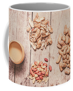 Fresh Peanuts, Shells, Raw Nuts And Peanut Butter Coffee Mug