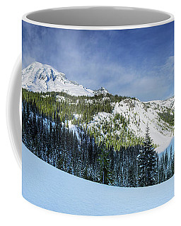 Fresh Snow At Mount Rainier Coffee Mug