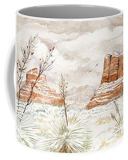 Fresh Snow On Bell Rock Coffee Mug