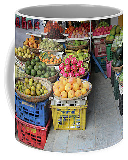 Fresh Veggies Fruit Streets Vietnam  Coffee Mug by Chuck Kuhn
