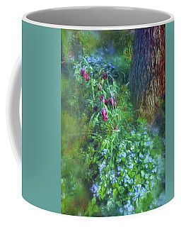 Fritillaria And Forget-me-nots  Coffee Mug by Connie Handscomb