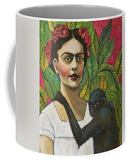 Frida And Blue Coffee Mug