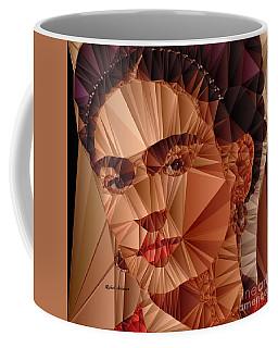 Coffee Mug featuring the digital art Frida Kahlo by Rafael Salazar