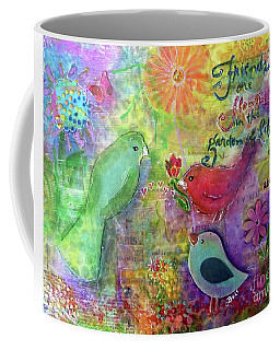 Coffee Mug featuring the painting Friends Always Together by Claire Bull