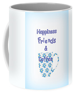 Friends And Coffee  - Kitchen Typography Coffee Mug