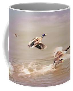 Friends In Flight Coffee Mug by Bonnie Willis