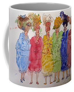 The Crazy Hat Society Coffee Mug by Marilyn Jacobson