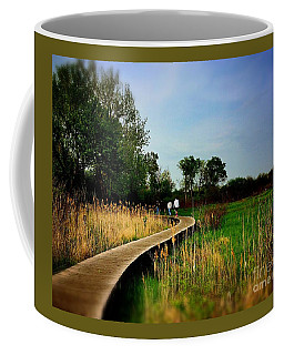 Friends Walking The Wetlands Trail Coffee Mug