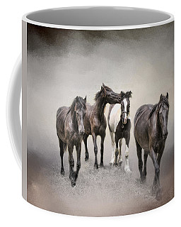 Friesian Horses The Boys And Baby Sister Coffee Mug