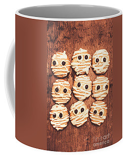 Frightened Mummy Baked Biscuits Coffee Mug