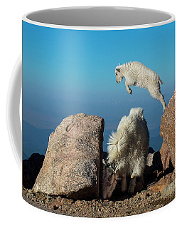 Leaping Baby Mountain Goat Coffee Mug