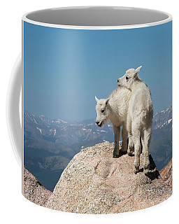 Frisky Mountain Goat Babies Coffee Mug