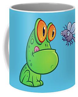 Frog And Dragonfly Coffee Mug