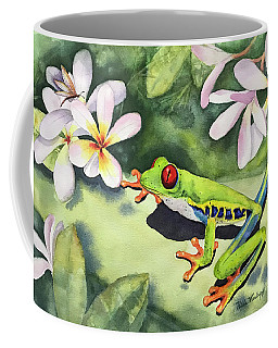 Frog And Plumerias Coffee Mug