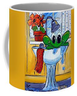 Frog Bath Coffee Mug