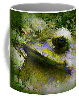 Coffee Mug featuring the photograph Frog In The Pond by Lori Seaman